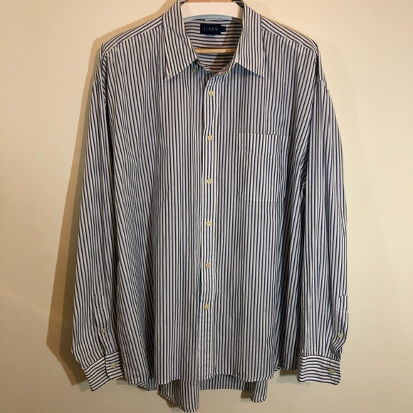 J. Crew Other - J. Crew blue & white XL striped long sleeve shirt